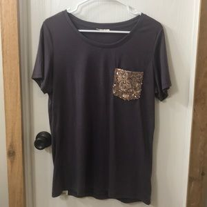 Soft tee - glitter pocket